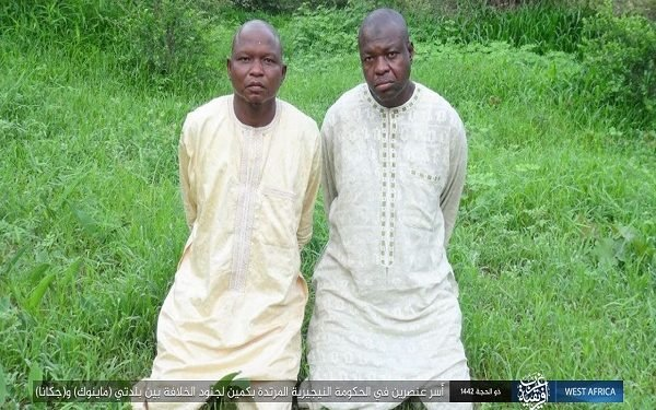 BREAKING: Boko Haram/ISWAP releases pictures of abducted soldiers, Yobe protocol officers